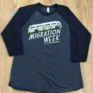Goose Island Migration Week 3/4 Sleeve Baseball T